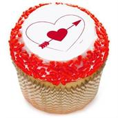"Heart and Arrow 2"" Edible Cupcake Topper (12 Image"