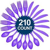 Purple Cutlery Set - Value Pack (210 Pa
