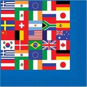 International Party Beverage Napkins (16)