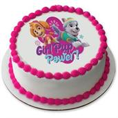 "Paw Patrol Girl Pup Power 7.5"" Round Edible Cake Topper (Each)"