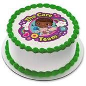 "Doc McStuffins Team Care 7.5"" Round Edible Cake To"