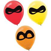 INCREDIBLES 2 12 Latex Balloons 6CT