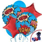 Superhero Colorful Party Balloons, Numbered Balloons and Balloon Bouquets
