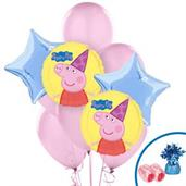 Peppa Pig Colorful Party Balloons, Numbered Balloons and Balloon Bouquets