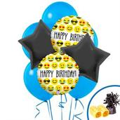 Emoji Colorful Party Balloons, Numbered Balloons and Balloon Bouquets
