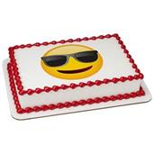 Emoji Sunglasses Quarter Sheet Edible Cake Topper (Each)