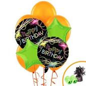 Glow Birthday Balloon Bouquet