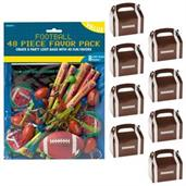 Football Party Filled Favor Box Kit (For 8 Guests)
