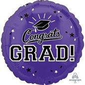 "Graduation 18"" Foil Balloon Purple (1)"