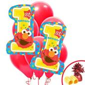 Elmo Turns One Jumbo Balloon Bouquet Kit