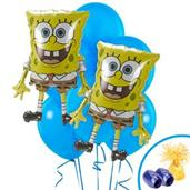 SpongeBob Colorful Party Balloons, Numbered Balloons and Balloon Bouquets