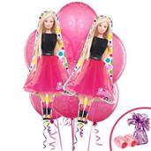 Barbie Colorful Party Balloons, Numbered Balloons and Balloon Bouquets