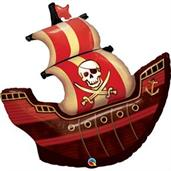 "Pirate Ship Shaped 40"" Foil Balloon"