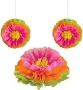 "Hibiscus 16"" Fluffy Flower Tissue Decoration"