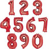 "35"" Number 0 Shaped Foil Balloon - Red"