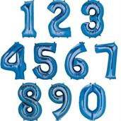 "35"" Number 0 Shaped Foil Balloon - Blue"