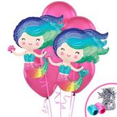 Colorful Mermaid Jumbo Balloon Bouquet