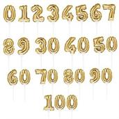 Gold Number 0 Self-Inflating Balloon Cake Topper