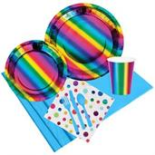 Metallic Rainbow Party Pack for 8