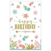 Boho Birthday Girl Paper Tablecover (1)