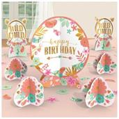 Boho Birthday Girl Centerpiece Table Decorating Kit