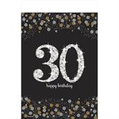Sparkling Celebration Plastic Tablecover 30th