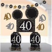 Sparkling Celebration Room Decorating Kit 40th