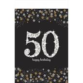 Sparkling Celebration 50th Plastic Tablecover