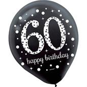 Sparkling Celebration Latex Balloons 60th (15)