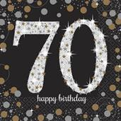 Sparkling Celebration Lunch Napkin 70th (16)