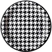 "Houndstooth Party 9"" Lunch Plates (8)"