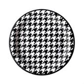 "Houndstooth Party 7"" Dessert Plates (8)"