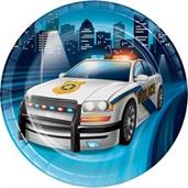 "Police Party Plate 7"" Lunch Plate (8)"