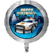 "Police Party 18"" Metallic Balloon (1)"