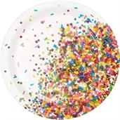 "Sprinkles Plate 7"" Lunch Plate (8)"