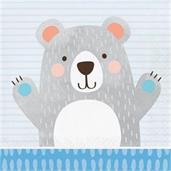 1st Birthday Bear Lunch Napkin (16)