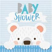 1st Birthday Bear 'Baby Shower' Lunch Napkin (16)