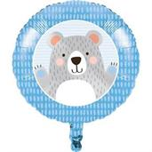 "1st Birthday Bear 18"" Metallic Balloon (1)"