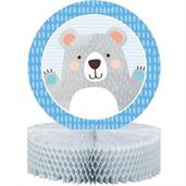 1st Birthday Bear Honeycomb Centerpiece (1)