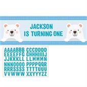 1st Birthday Bear Giant Party Banner (1)