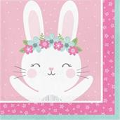 1st Birthday Bunny Lunch Napkin (16)