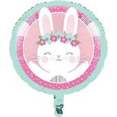 "1st Birthday Bunny 18"" Metallic Balloon (1)"