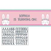 1st Birthday Bunny Giant Party Banner (1)
