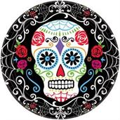Day Of The Dead 10.5 Round Lunch Plate (18)