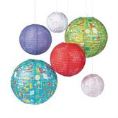Science Party Paper Lanterns (6pcs)
