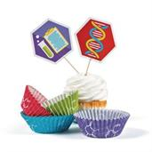 Science Party Cupcake Wrappers (50 sets)