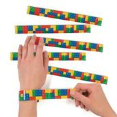 Color Brick Party Slap Bracelets