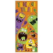 Silly Halloween Monster Door Poster 27 X 60
