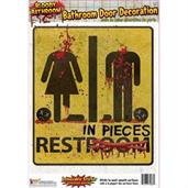 Bloody Unrestroom Door Sign