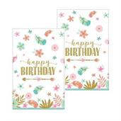 Boho Birthday Girl Paper Tablecovers (2)